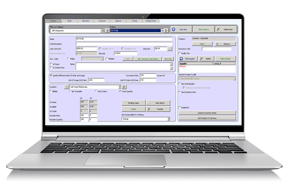 Practice Management Optical Shop Software