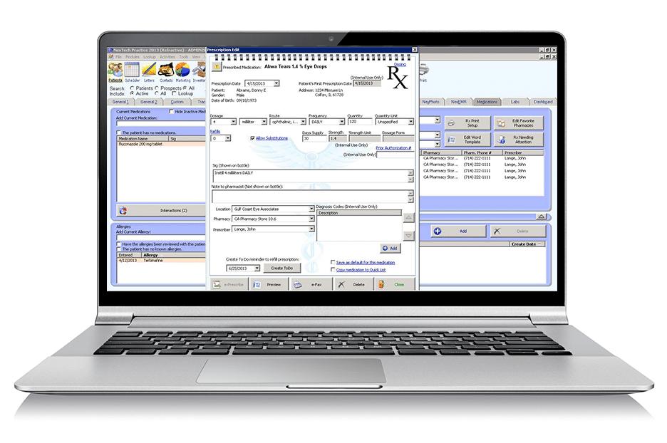 Nextech EMR eRx E-Prescribing Software