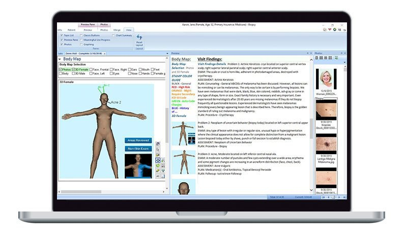 EMR Exclusively Architected For Dermatology