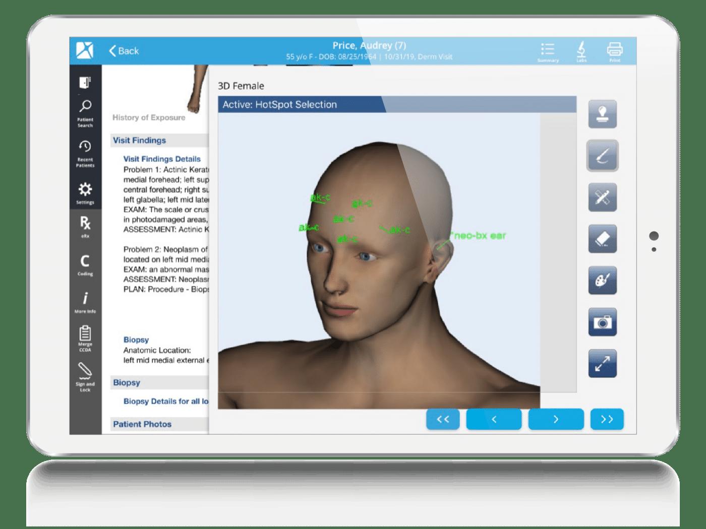 Dermatology EHR Smart Stamping