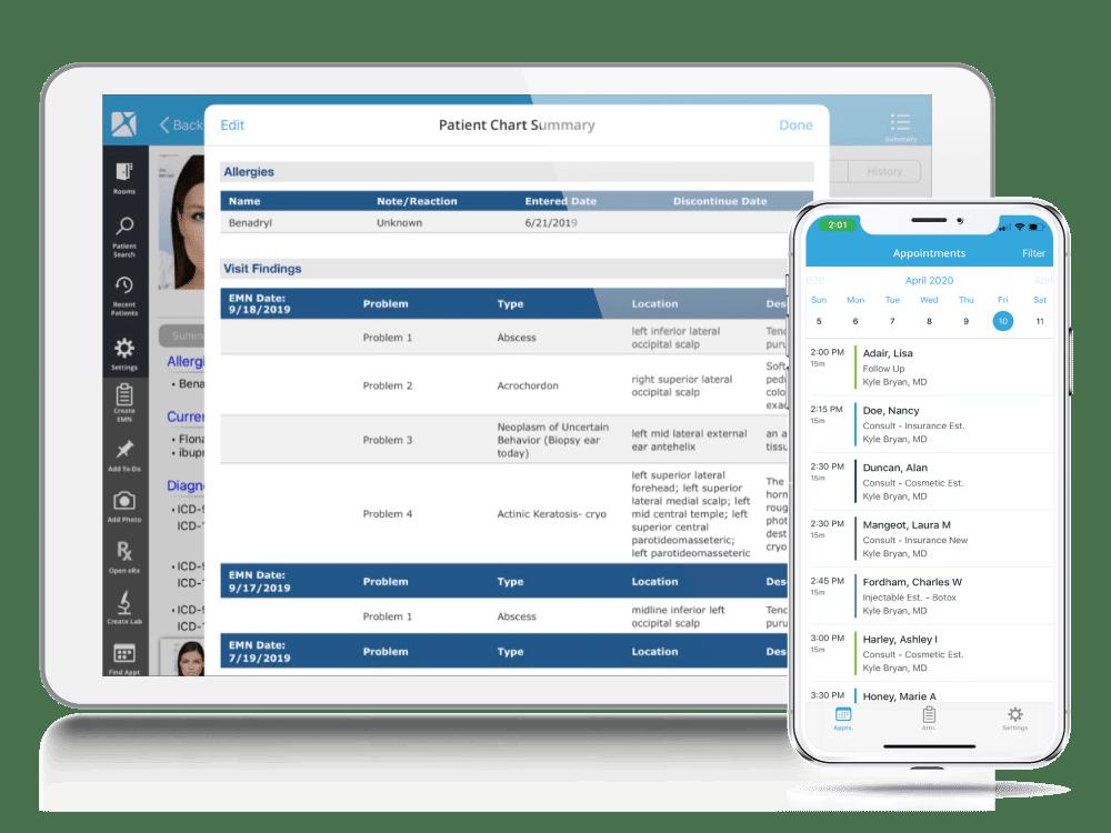 Dermatology EHR iPad & Provider Mobile App