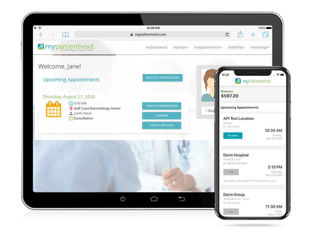 Dermatology Practice Management Custom Patient Portal & Mobile App