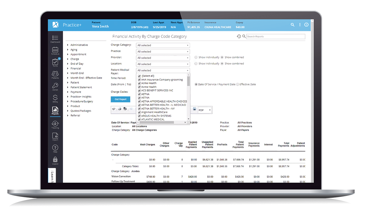 Ophthalmology Practice Management Reporting & Analytics