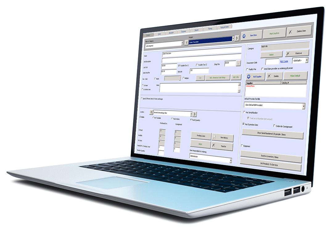 Nextech Practice Management Inventory