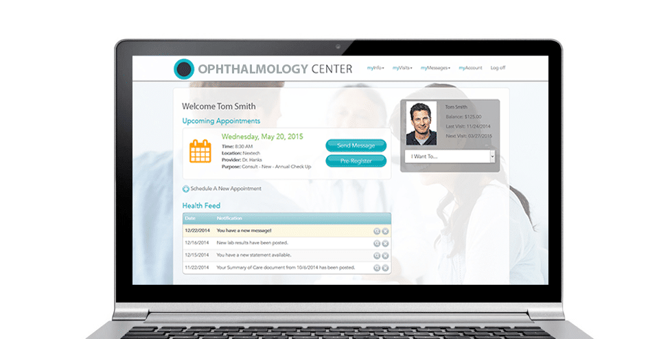 Nextech Ophthalmology Patient Portal