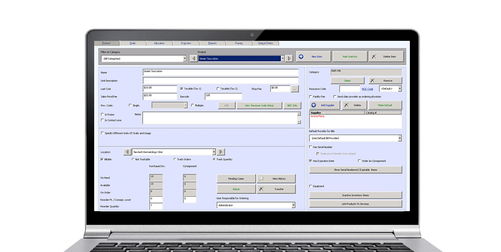 Plastic Surgery Practice Management Inventory Software
