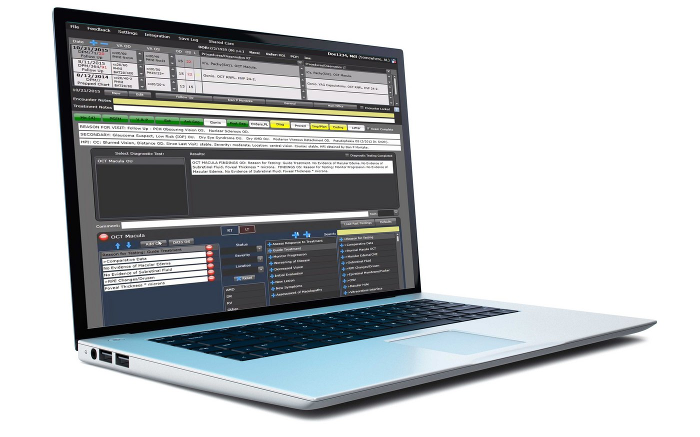 Nextech Patient Specific EMR Templates